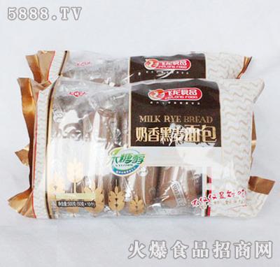 飞龙食品奶香黑麦面包500g
