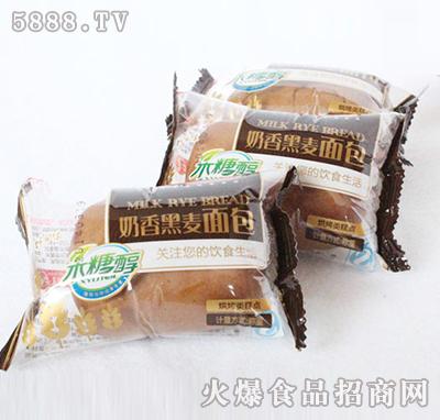 飞龙食品奶香黑麦面包