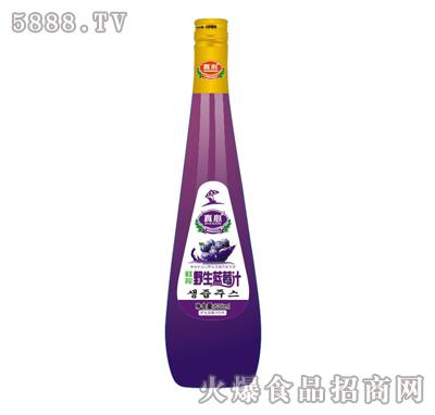 真心野生蓝莓汁838ml
