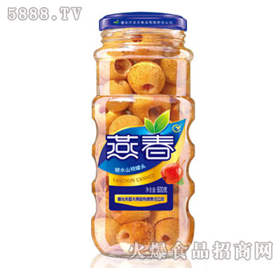 燕春600克糖水山楂罐头