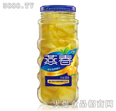 燕春600克糖水菠萝罐头