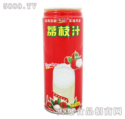 豪园荔枝汁产品图