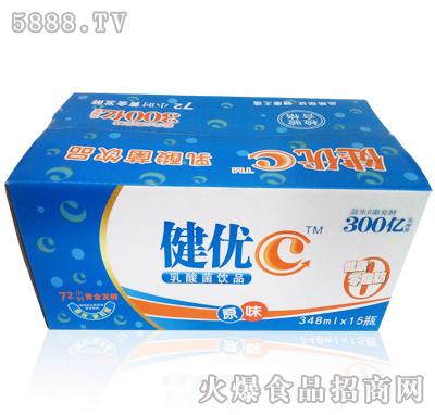 348mlx15瓶健优C乳酸菌饮品原味产品图