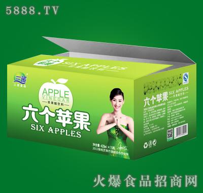 六个苹果青苹果醋428mlx15瓶