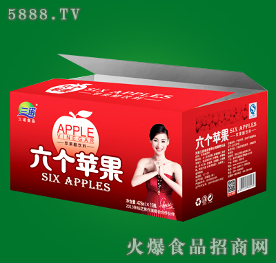 六个苹果红苹果醋428mlx15瓶