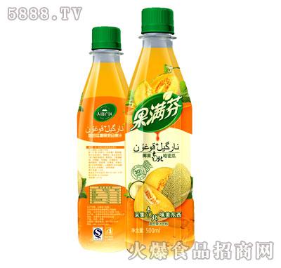 500ml果满芬椰果哈密瓜果汁饮料