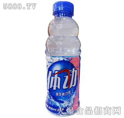 途乐体动维生素饮料水蜜桃味600ml