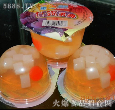 盛朝什锦果肉果冻