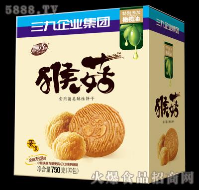 750g猴菇食用菌类酥性饼干