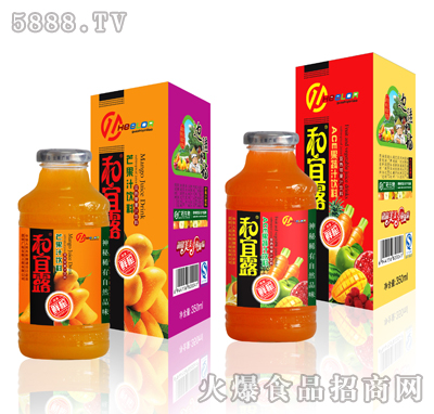 350ml和宜露芒果汁ACE果蔬汁