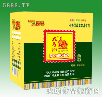 大马邦亚热带鸡尾果汁饮料1.5LX6