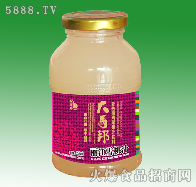 大马邦丽江雪桃汁258ml