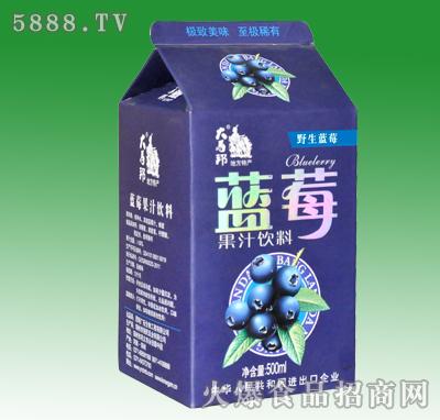 500ml大马邦野生蓝莓果汁饮料