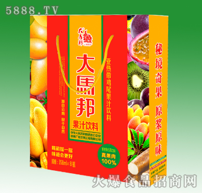 358mlx15瓶大马邦手提箱果汁综合箱(加果肉)