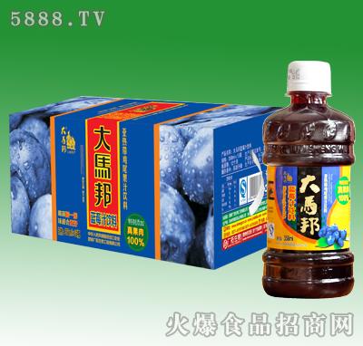 358mlx15瓶大马邦蓝莓汁饮料(加果肉)