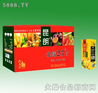 310mlX15昆朗芒果汁饮料