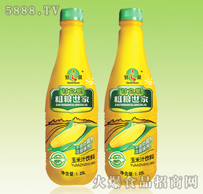 甘之泉粗�Z世家玉米汁�料1.25L
