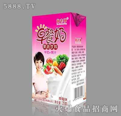 250ml俺老孙草莓味早餐奶果蔬饮料产品图