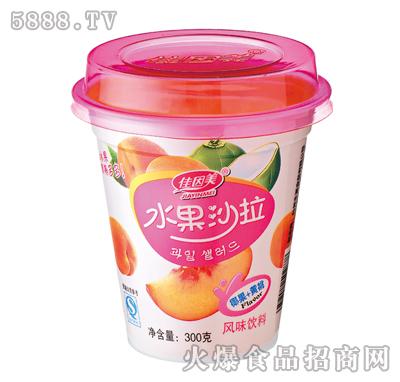 佳因美300g水果沙拉椰果加黄桃风味产品图