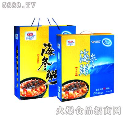 宏易堂海参粥无蔗糖320g6罐蓝色装八宝粥