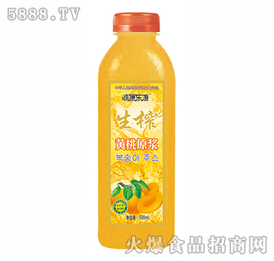 怀康乐源500ml生榨黄桃汁