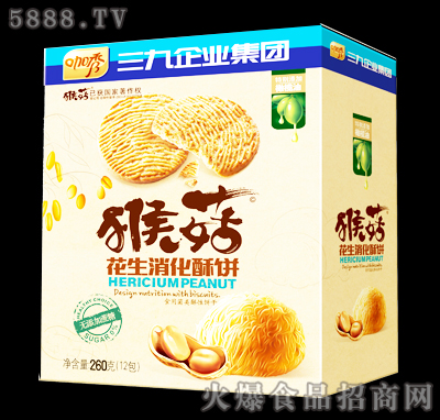 咖秀猴菇花生消化酥饼260克
