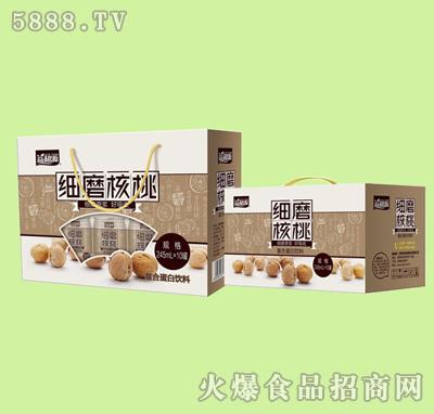 细磨核桃复合蛋白饮料245mlx10罐礼盒