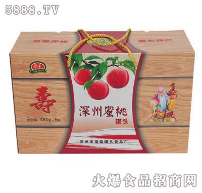 华深480克x6罐深州蜜桃罐头礼盒