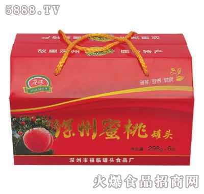 华深298克x6罐深州蜜桃罐头礼盒