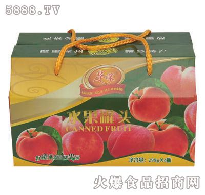 华深298克x6罐黄桃罐头礼盒