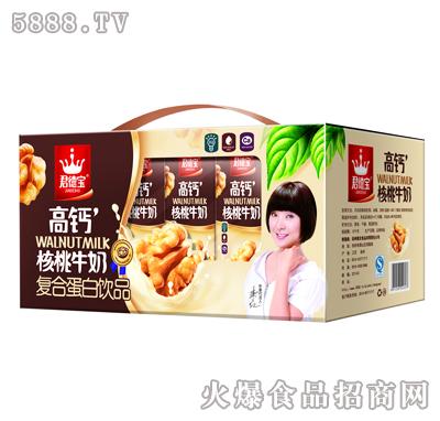 君德宝高钙核桃牛奶蛋白饮品250mlX10盒