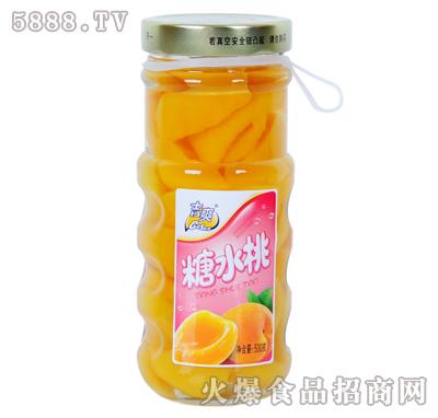 吉爽糖水桃罐头500g