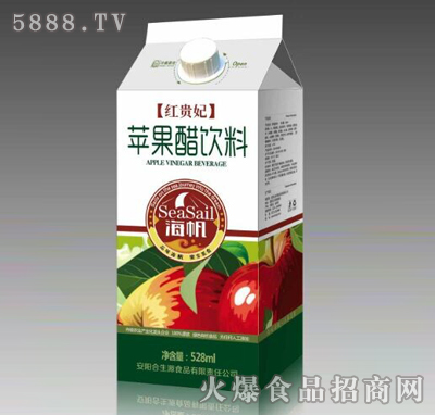 海帆红贵妃苹果醋饮料528ml
