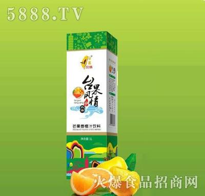 台果风情芒果香橙汁饮料1L