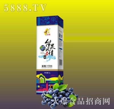 台果风情蓝莓汁饮料1L