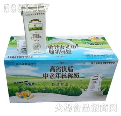 果公子高钙低脂中老年核桃奶箱