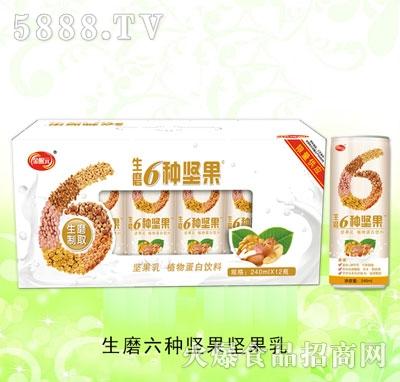 生磨6种坚果坚果乳240mlx12瓶装