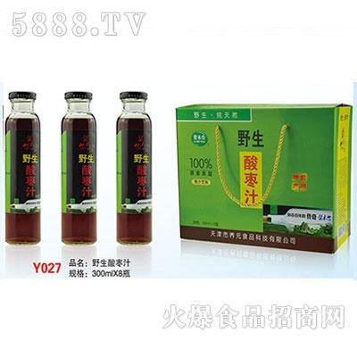 野生酸枣汁300mlx8瓶青