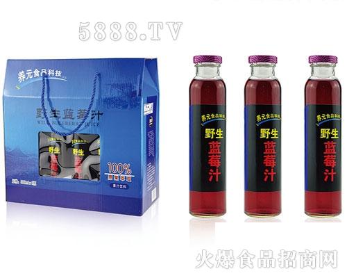 野生蓝莓汁300mlx8瓶