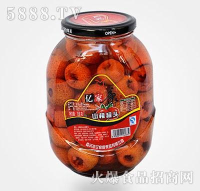 758克山楂水果罐头