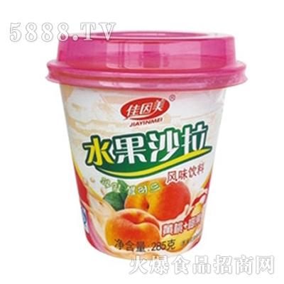 佳因美285克水果沙拉黄桃+椰果味产品图