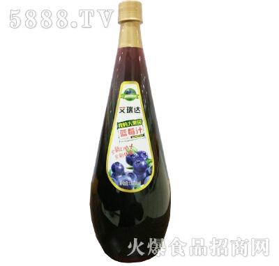 艾瑞达我的大果园蓝莓汁1688ml