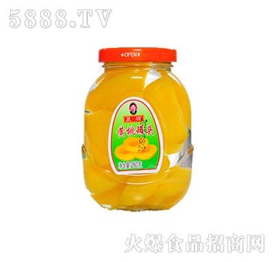 晨辉260黄桃正面罐头