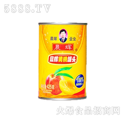 晨辉425g黄桃易拉罐头