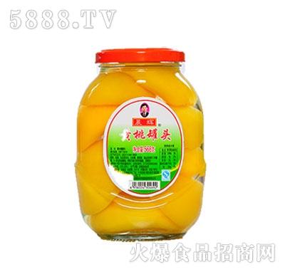 晨辉568g黄桃罐头