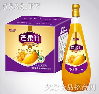 1.5lx6瓶浩田芒果汁
