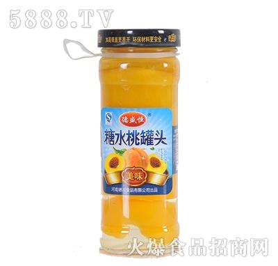 德盛恒450g糖水桃罐头产品图