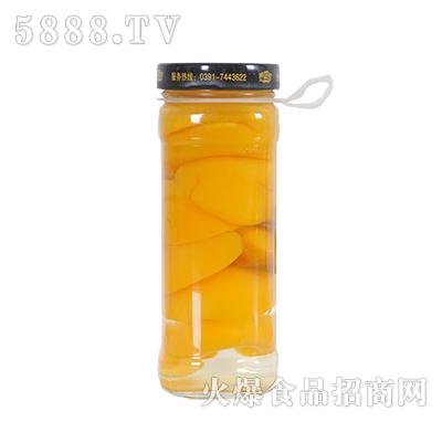 德盛恒450g糖水桃罐头反面产品图