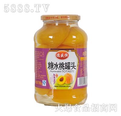 德盛恒700g糖水桃罐头产品图