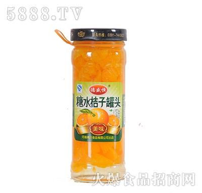 德盛恒450g糖水桔子罐头